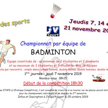 Badminton par équipe