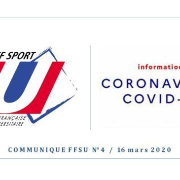 COVID-19 / COMMUNIQUÉ N°4