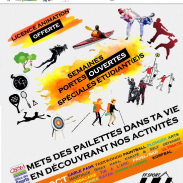 Semaines Portes Ouvertes spéciales étudiants (Site Amiens)