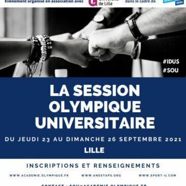 Session Olympique Universitaire 2021 – Du 23 au 26 septembre 2021 à Lille