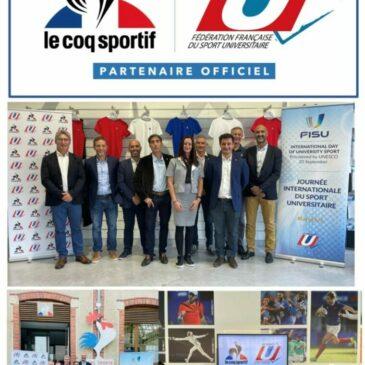 LE COQ SPORTIF DEVIENT PARTENAIRE OFFICIEL DE LA FFSU.